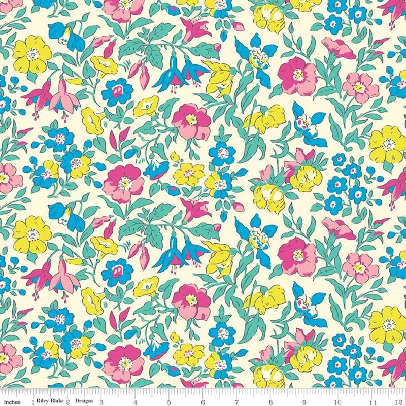 10 count colorful flowers fabric washi