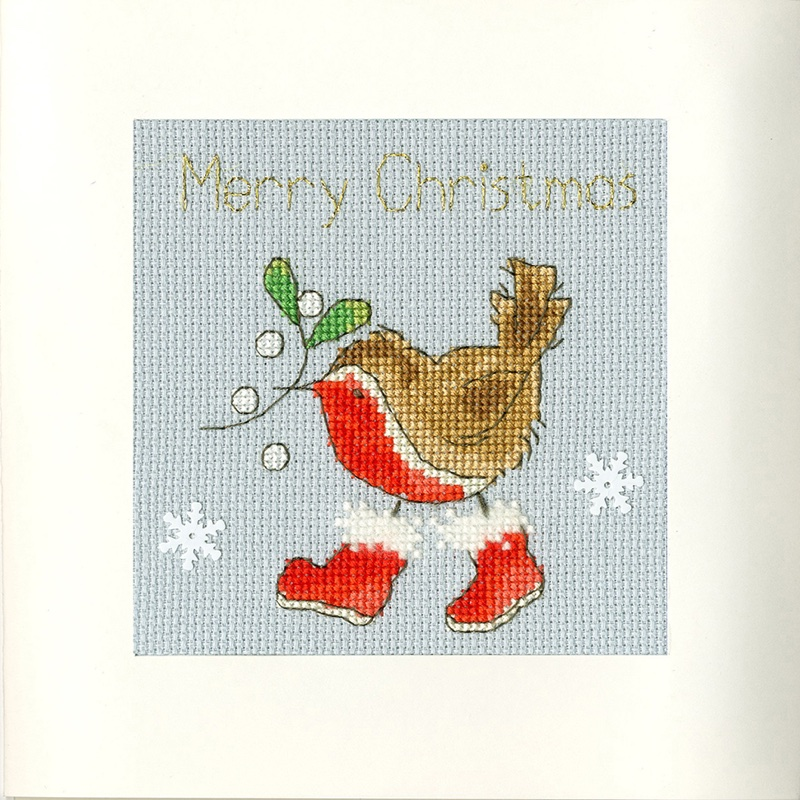 Winter Woof Christmas cards Bothy Threads Cross Stitch Kit