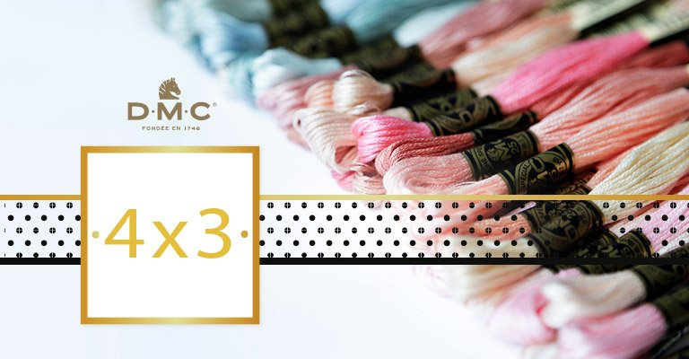 4X3: threads are partying hard - From July 1st to 31st, stock up on DMC!