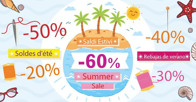 July: it's time for Summer sales!