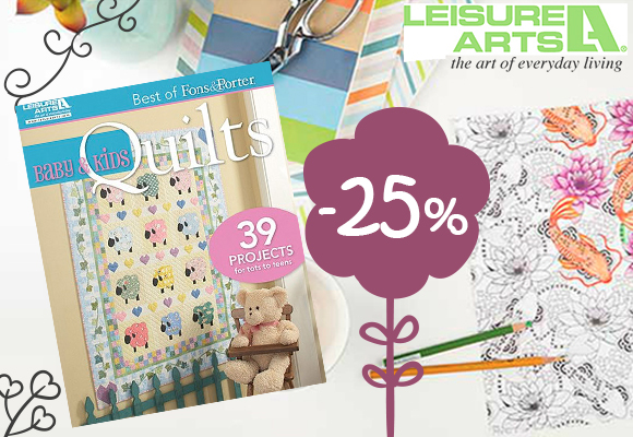 Over 100 on sale! Leisure Arts 25% off!