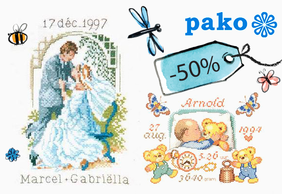 Lovely Pako kits at 50% off! Cute and timeless designs!