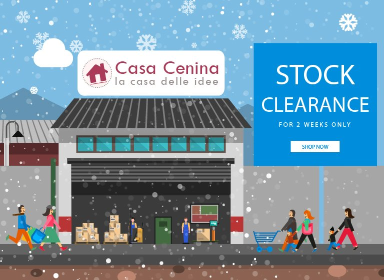 STOCK CLEARANCE NOW: Let's make room in Casa Cenina!